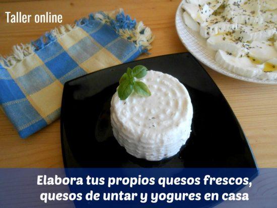Taller online quesos y yogures